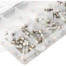 Surtido fusible de tubo de vidrio de 120 piezas