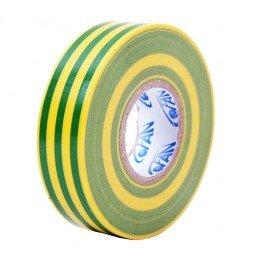 20 M x 19 mm de fita isolante de PVC amarelo/verde