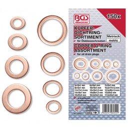 Surtido150 arandelas de cobre para cárter