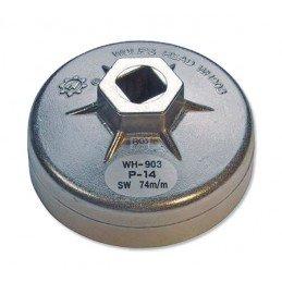 Cazoleta para filtros de aceite | 14 caras | Ø 74 mm | para Audi, BMW, Mercedes-Benz, Opel, VW