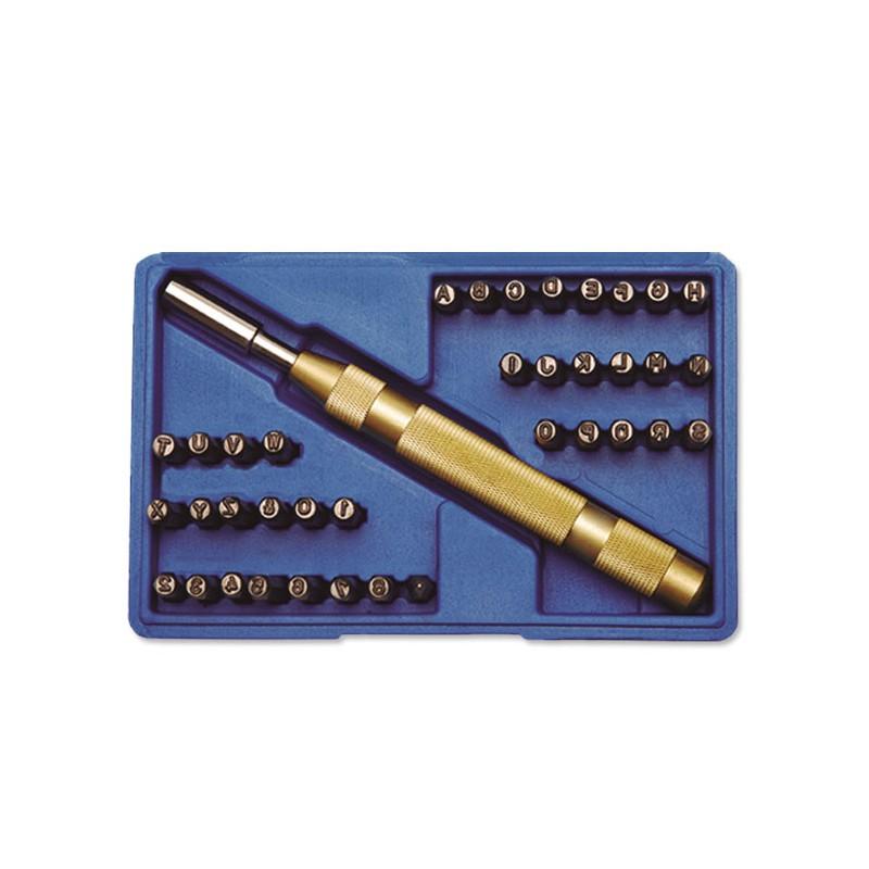 Juego Automático Abecedario + numeración 4 mm.