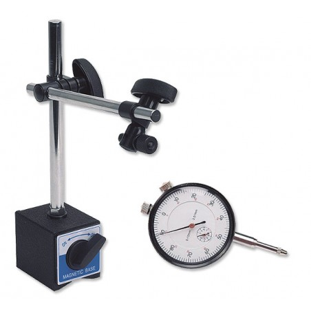 Suporte magnético + relógio comparador