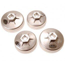 Juego 4 cazoletas aluminio para filtros de aceite