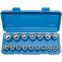 """Conjunto de chaves de 16 peças bi-sextavado vidro 1/2 """"8-24mm"""