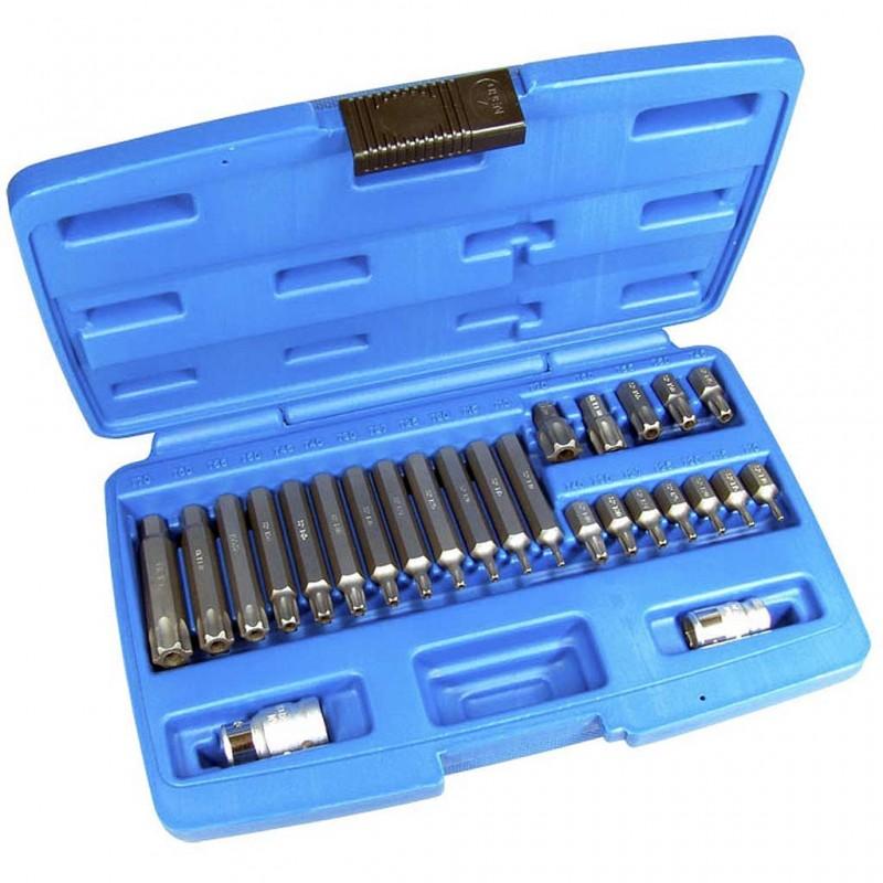 Juego 26 piezas de puntas Torx inviolable 10 mm.
