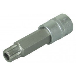 "Llave de vaso 1/2"" con punta XZN Largo 100mm. M18 inviolable"