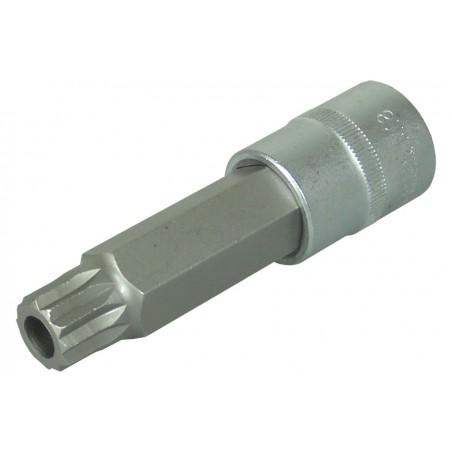 """Llave de vaso 1/2"""" con punta XZN Largo 100mm. M18 inviolable"""