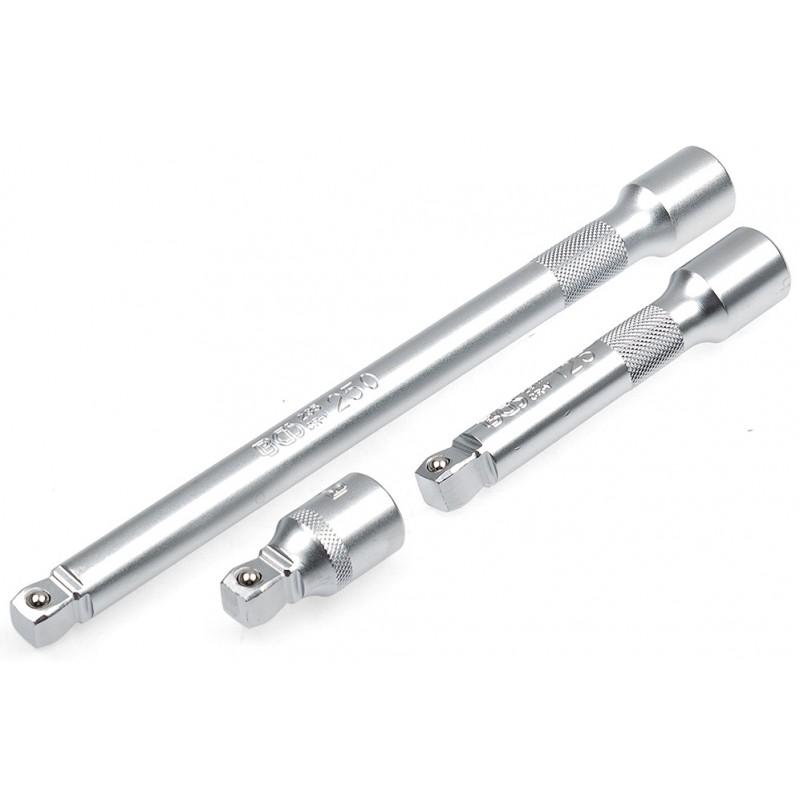 Juego 3 alargaderas angulares 50 -125 - 250 mm