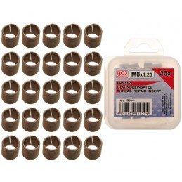 Jogo 10 peças inserções M8x 1.25
