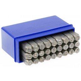 Juego punzones de letras, 6 mm