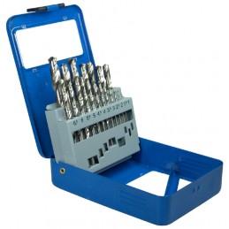 Juego 19 piezas de brocas HSS 1-10 mm.