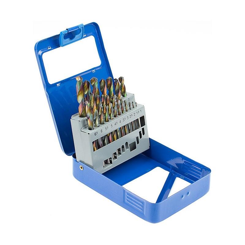 Peças de jogo 19 de bocados de broca, cobalto, HSS, 1-10 mm