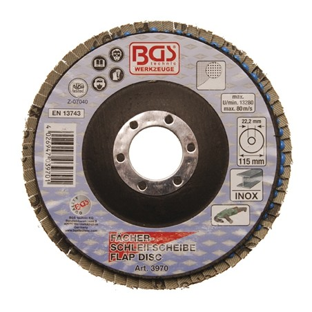 Disco de láminas de 115 mm de diámetro, grano 60