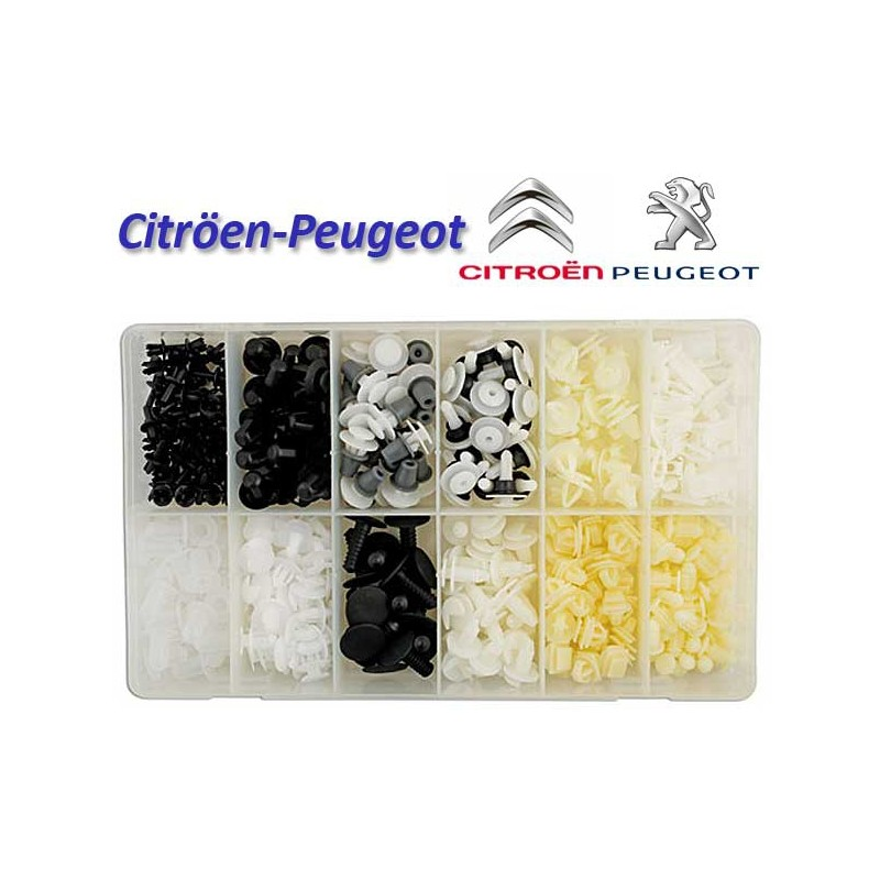 345 Pcs. Staples sortidas para Citroen/Peugeot