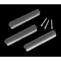 3 cabezales de recambio para bruñidor, 100 mm. grano 180