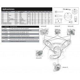 Corrente de ar do kit de distribuição VAG 2.7 e 3.0 TDI