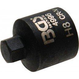 Llave de vaso hexágonal 8 mm, extra corta para pinzas de freno