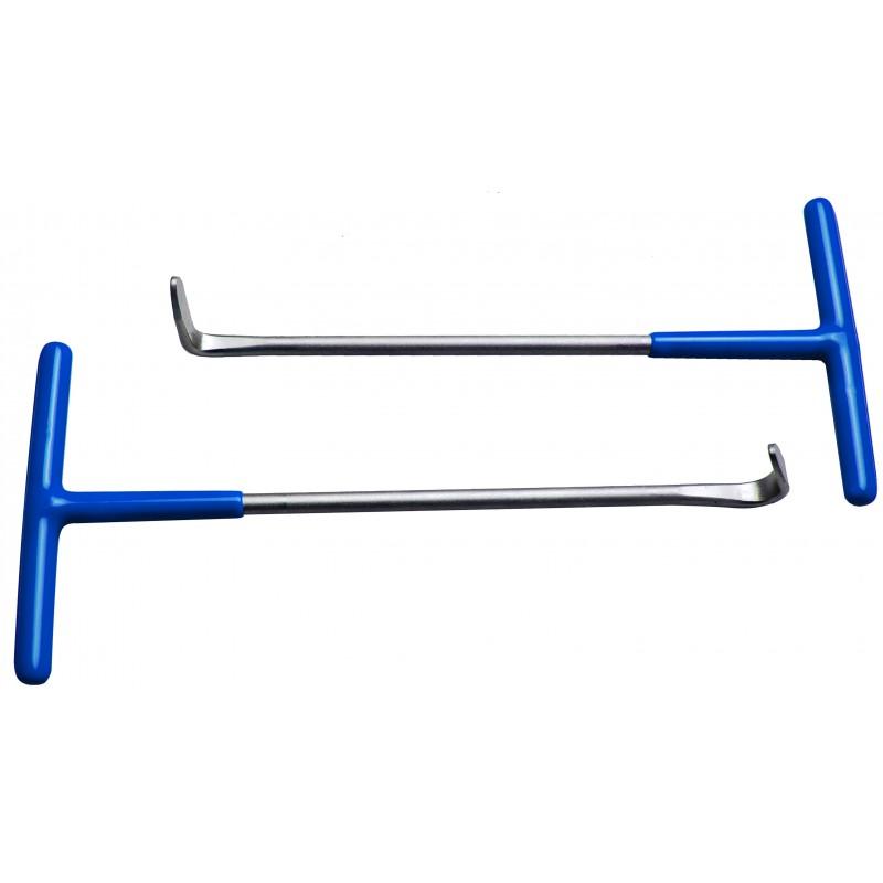 Juego 2 piezas de ganchos para las gomas de los tubos de escape