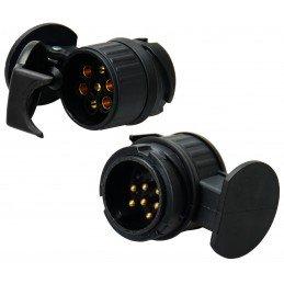 Reboque, 13 a 7 conectores plug adaptador