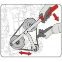 Ajustável jogo de chaves para polias das árvores de cames