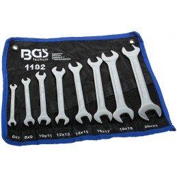 Juego 8 llaves fijas (dos bocas) 6x7-20x22 mm BGS-1182