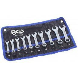 Juego 10 llaves combinadas extra cortas 10-19 mm BGS- 1188