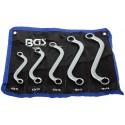 Juego 5 llaves combinadas tipo S 10x11 - 18x19 mm. BGS-1216