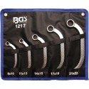 Juego 5 llaves combinadas de media luna 10x11-18x19 mm BGS-1217