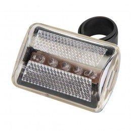 Luz de 5 LED para bicicleta Transparente