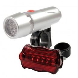 Luz con para bicicleta 5 LED, 2 pzas 2 pzas