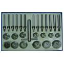 Juego 27 piezas para el corte de asientos de válvulas, 30-60 mm