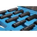 Jogar 10 copo de chaves de impacto 1/2 ' longo, 10-24 mm