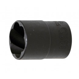 """Llave de vaso extractora en espiral 1/2"""", 17mm. BGS-5266-19"""