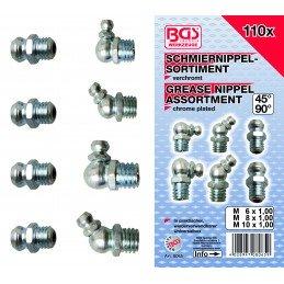 Surtido 110 piezas de engrasadores BGS-8065
