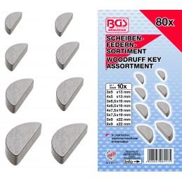 Surtido 80 piezas de chavetas tipo Woodruff BGS-8117