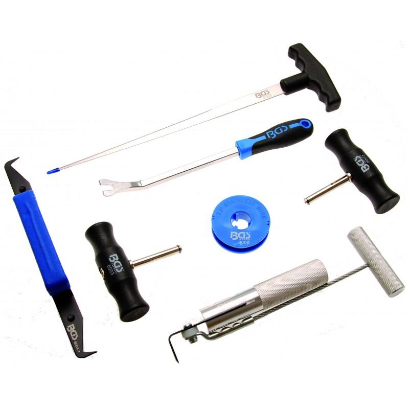Jogo 7 peças aparelho para remover o pára-brisa