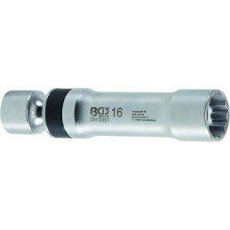 Llave de bujía universal, 16 mm, 12 pt, con resorte de retención BGS-2391