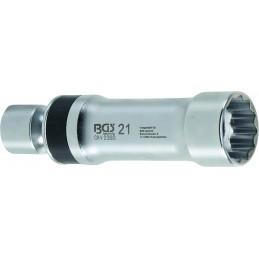 Llave de bujía universal, 21 mm, 12 pt, con resorte de retención BGS-2392