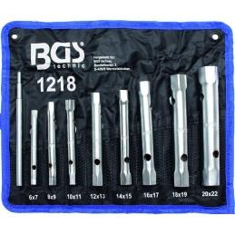 Juego 8 piezas llaves de tubo 6x7 - 20x22 mm BGS-1218