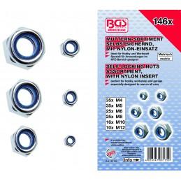Surtido 146 piezas de tuercas hexagonales autoblocantes DIN 985