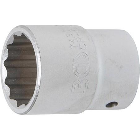 """Llave de vaso Pro-Torque ® 12 caras  3/4"""" 30 mm"""