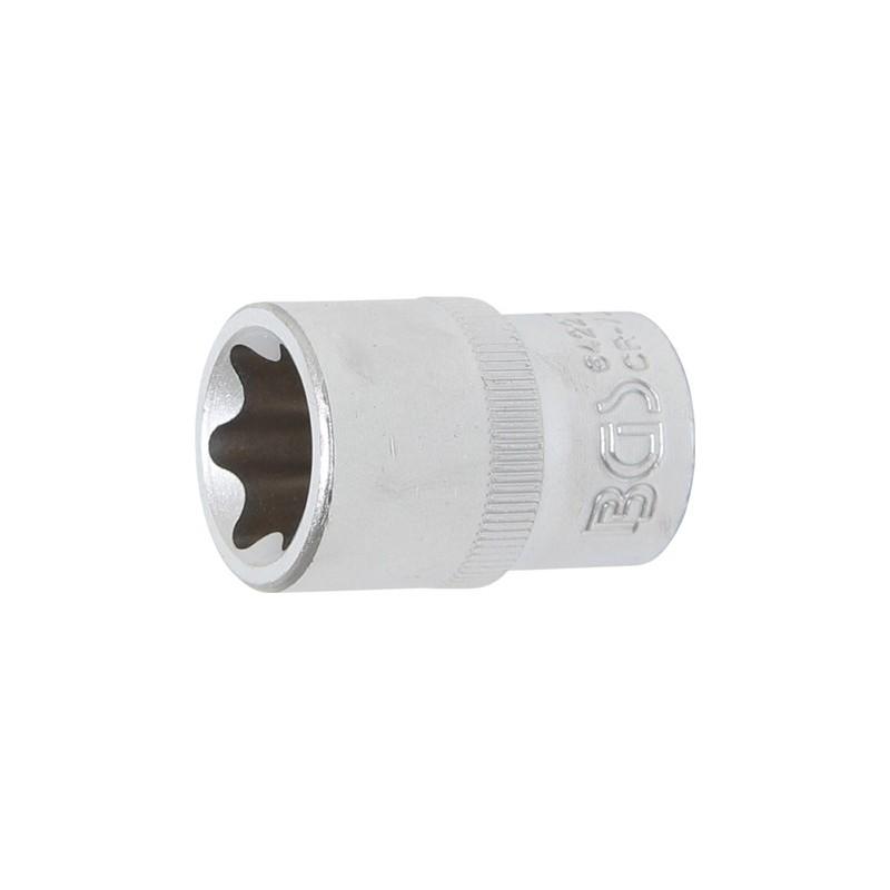 """Llave de vaso 1/2"""" corto T-Star (Torx) E22 BGS-6422"""