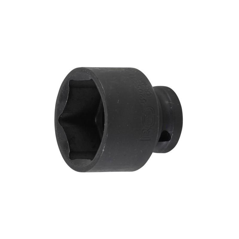 """Llave vaso de impacto 1/2"""" hexagonal corto 34mm. BGS-5205-34"""