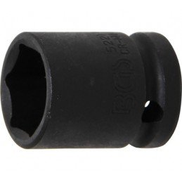 """Llave vaso de impacto 1/2"""" hexagonal corto 21mm. BGS-5221"""