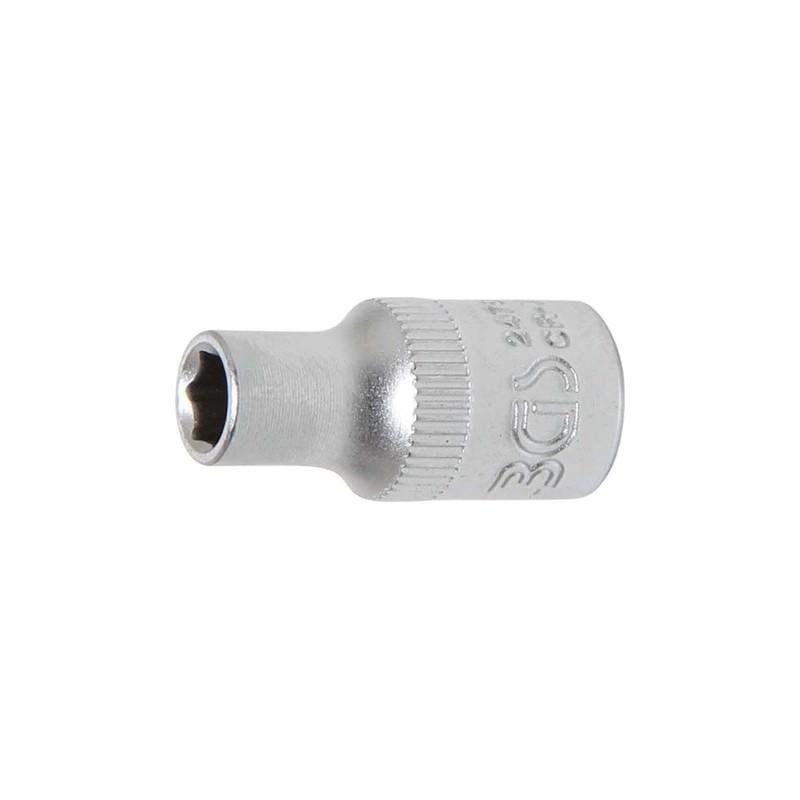 """Llave de vaso corto 1/4"""" 6 caras Pro Torque® 5mm. BGS-2476"""