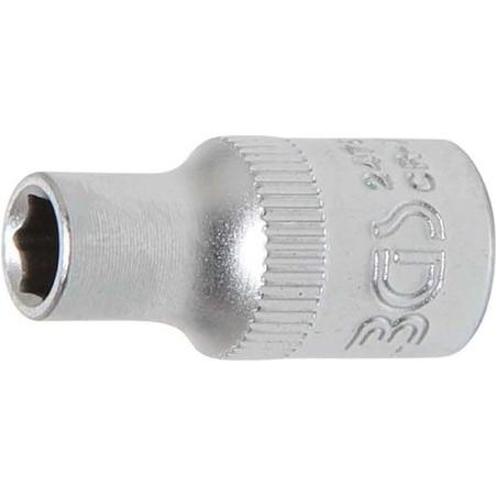 """Llave de vaso corto 1/4"""" 6 caras Pro Torque® 5mm."""