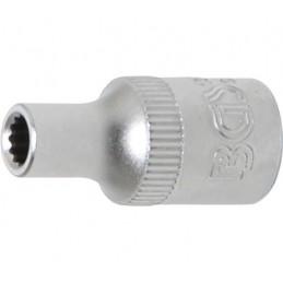 """Llave de vaso corto 1/4"""" 12 caras 4mm. BGS-10774"""