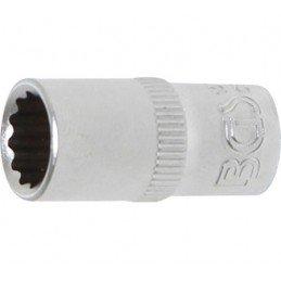"""Llave de vaso corto 1/4"""" 12 caras 8 mm. BGS-10778"""