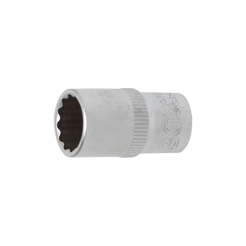 """Llave de vaso corto 1/4"""" 12 caras 10 mm. BGS-10780"""