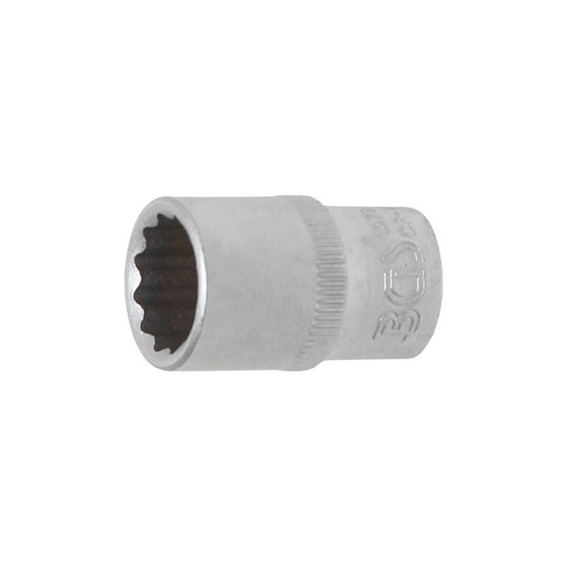 """Llave de vaso corto 1/4"""" 12 caras 11 mm. BGS-10781"""